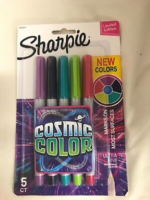Sharpie Cosmic Colors Ultra Fine Point Permanent Markers New Colors