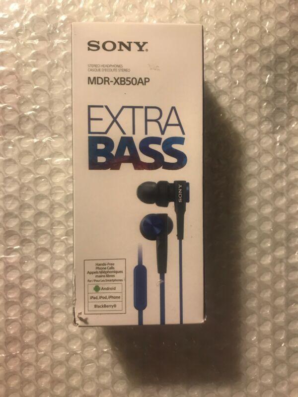 Sony Earbud Headphones Blue MDRXB50AP/L