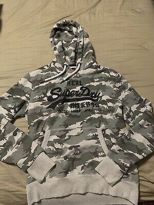 SuperDry Camo Hoodie Size XL