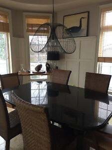 Large black granite boardroom / dining table- SERIOUSLY REDUCED