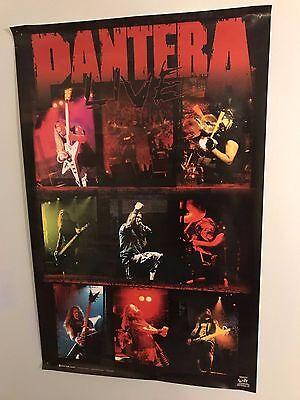PANTERA LIVE 2000 VINTAGE RARE POSTER OOP