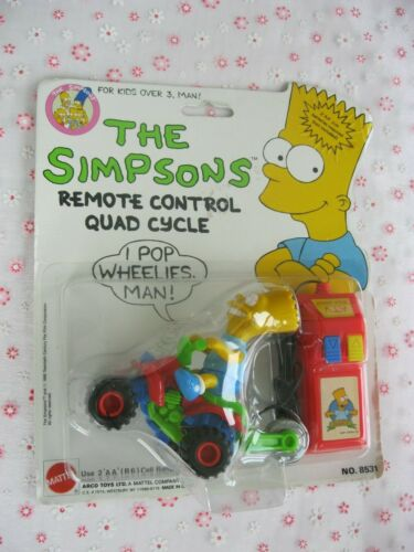 Mattel The Simpsons Remote Control Quad Cycle 1990 Sealed New