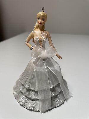 2008 Hallmark Keepsake Christmas Ornament Celebration Holiday Barbie Doll Look