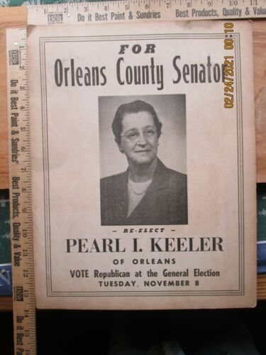 for orleans county senator re-elect pearl i keeler of orleans - poster