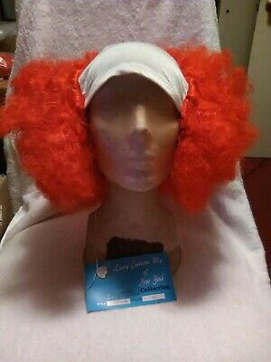 Bald Wig With Hair (Lacey Red (Hair With White) Bald Curly)