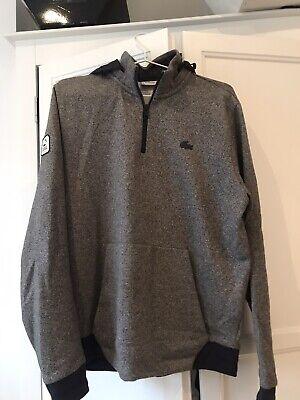Lacoste Half Zip Sweater Jumper Grey Medium Men's Sportswear(detachable hood) for sale  Shipping to South Africa