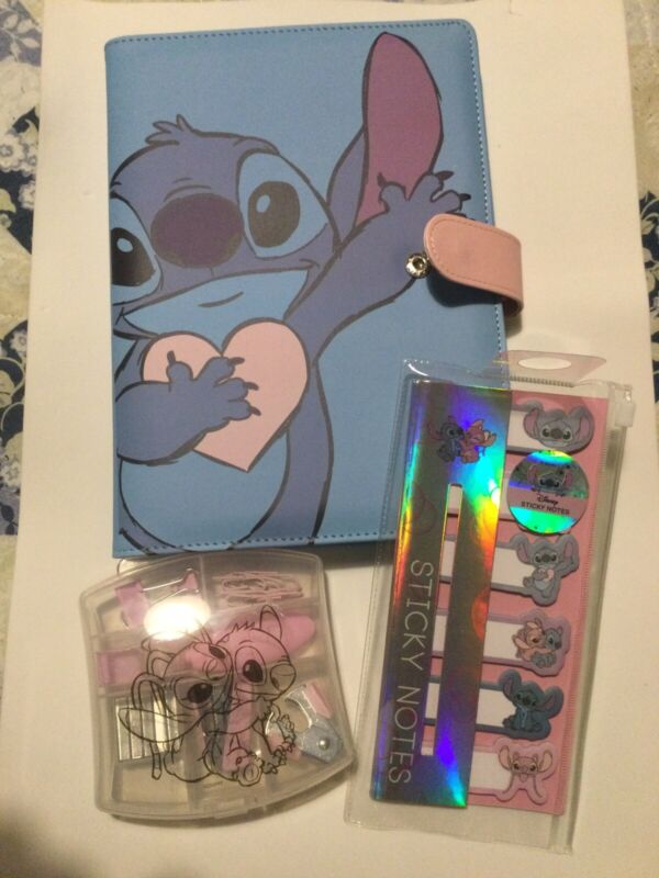 DISNEY STITCH ACADEMIC DIARY TIMETABLE NOTEBOOK STICKY NOTES STATIONARY PRIMARK