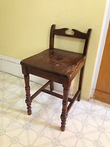Antique Short Back Vanity/Piano Chair