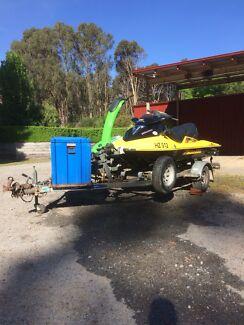 Seedoo GTX 185HP and double jet ski trailer