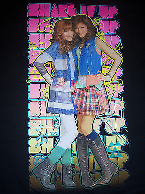 Disney's SHAKE IT UP CeCe & Rockey Short Sleeve Black T-Shirt Child size XL NEW