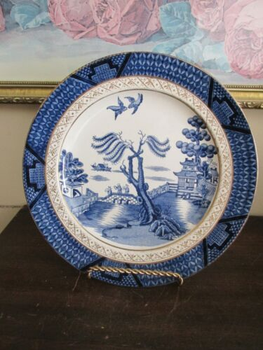 Vintage Booths Real Old Willow England Blue Dinner Plate