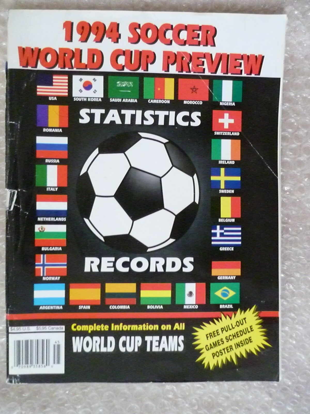 1994 Soccer World Cup Statistics Records- Complete information on All WC Teams