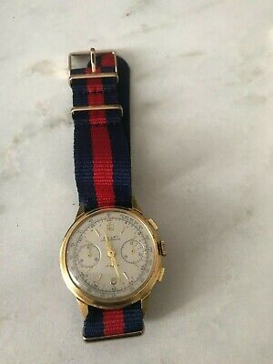 Dulfi Landeron 248 Chronograph Men's SWISS Watch Vintage Good Condition