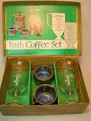 Twaddle Shamrock Ware Irish 4 Piece Coffee Set in Fitted Box B.S. Lewis