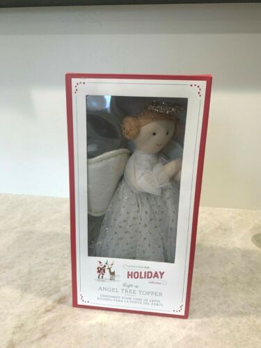 Pottery Barn Kids LIGHT up ANGEL Christmas tree topper NEW in box