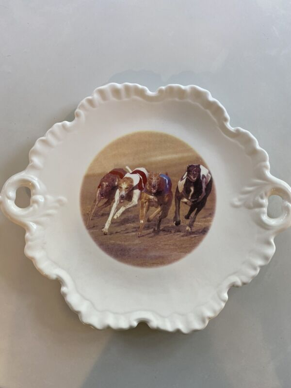 Greyhound Decorative Porcelain Plate 12 Inches