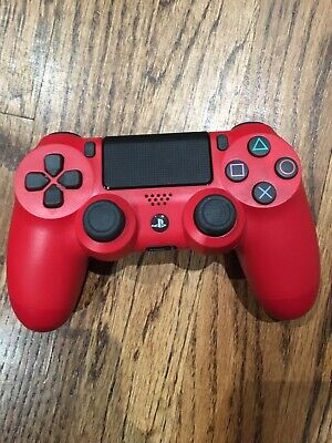 Official Sony PS4 Dualshock 4 Wireless Controller Magma Red USED WORKING for sale  Palo Alto