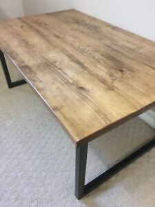 Quality handcrafted rustic industrial coffee table
