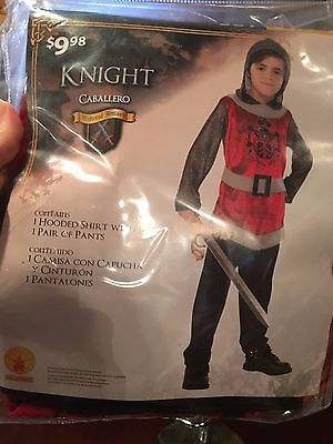 Male Fantasy Dress Up (Knight Costume Dress Up Halloween Size L 10-12 Caballero Medieval Fantasy)