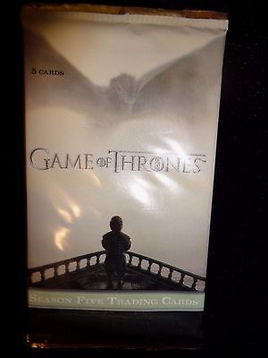 2016 Rittenhouse Game of Thrones Season 5 Trading Card Pack from Sealed Box!