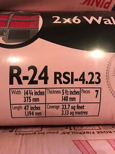 R24 pink insulation for 2x6 walls