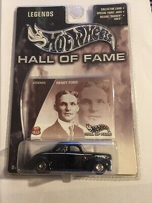 2002 Hot Wheels Hall of Fame Legends Henry Ford 1940 coupe with RL Real Riders