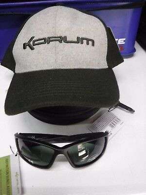 Korum Idefinition Sunglasses and base ball cap