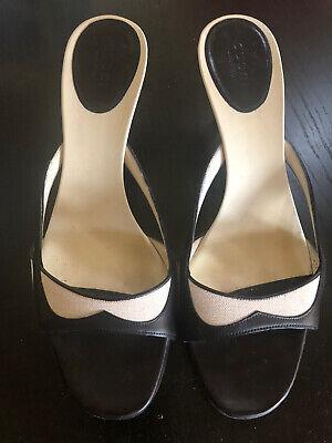 Gucci Slip On Heels - Open Toe - Size 8B