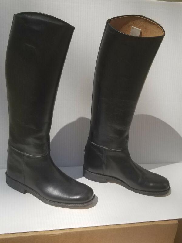 Riding Boots Veltheim Switzerland Equestrian Black Leather 5 1/2 A