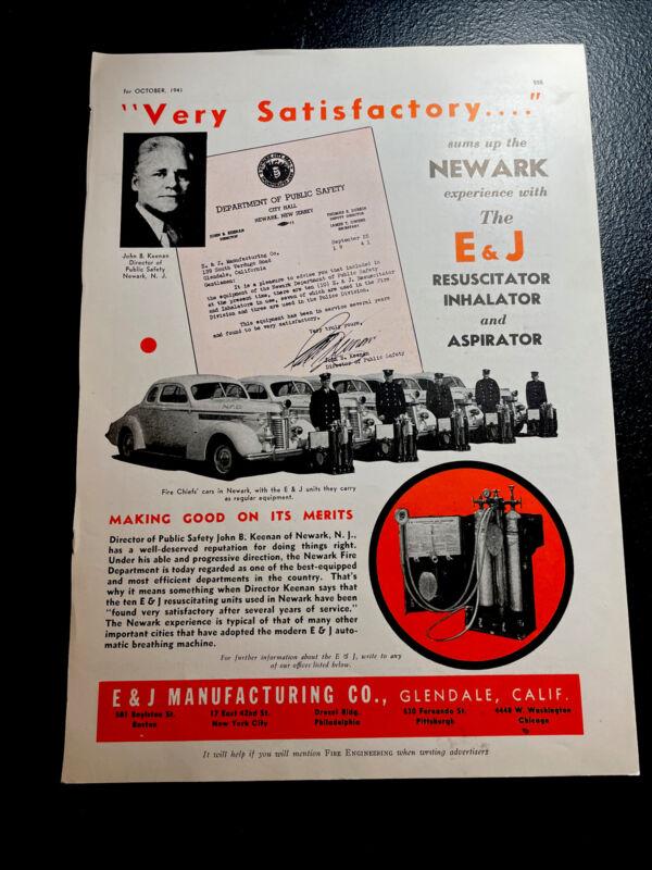 1941 Fire Truck Advertising - Newark - New Jersey - E&J - Glendale - CA