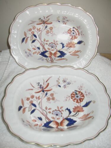 2 ~ Booths Fresian #8022 ~ OVAL SERVING BOWLS England ~ vintage