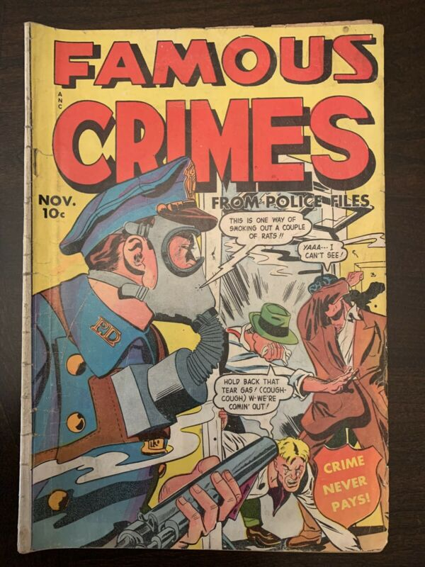 Famous Crimes from Police Cases #14 Pre Code Crime Comic 1949 Fox GD 2.0