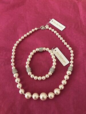 jon richard Pearl  Necklace and bracelet New With Tags