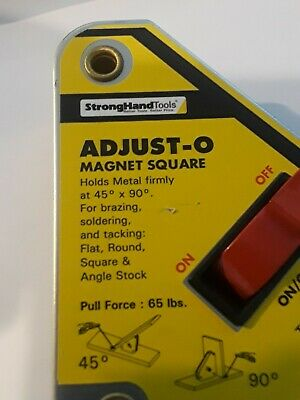 Strong Hand Tools Adjust-o Welding Magnet Squares With On Off Switch.msa45