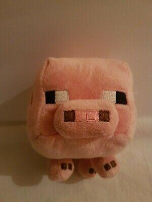 2014 Minecraft Jazwares Mojang Toy Pink Plush Pig 7 Inch
