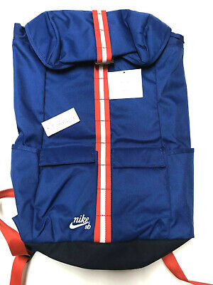 Nike SB Stockwell Backpack Blue Red White Skateboarding School Bag BA5535-455