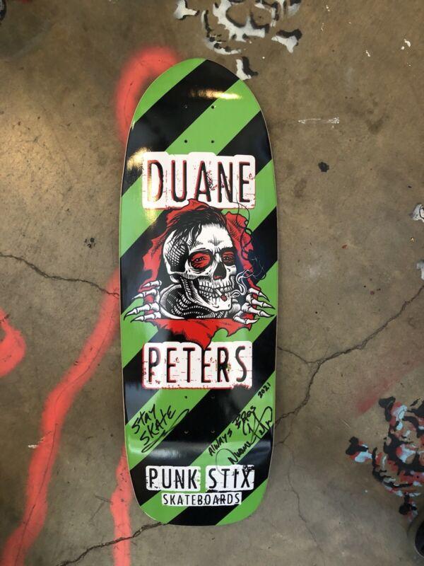 DUANE PETERS PUNK ROCK SKATE PUNKSTIX DP RIPPER POOL BOARD 30.5 x 10 wb16