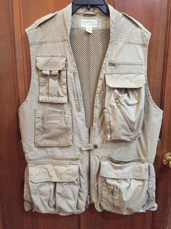 Vintage Banana Republic Travel Safari Cotton Vest, Mens L
