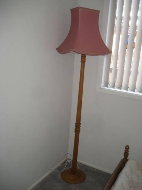 Bedroom Floor Lamp Solid Timber