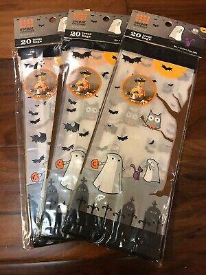 Halloween Sweet Bags (LOT OF 3 SWEET CREATIONS HAPPY HALLOWEEN TREAT BAGS 20 BAGS EACH 60 BAGS)