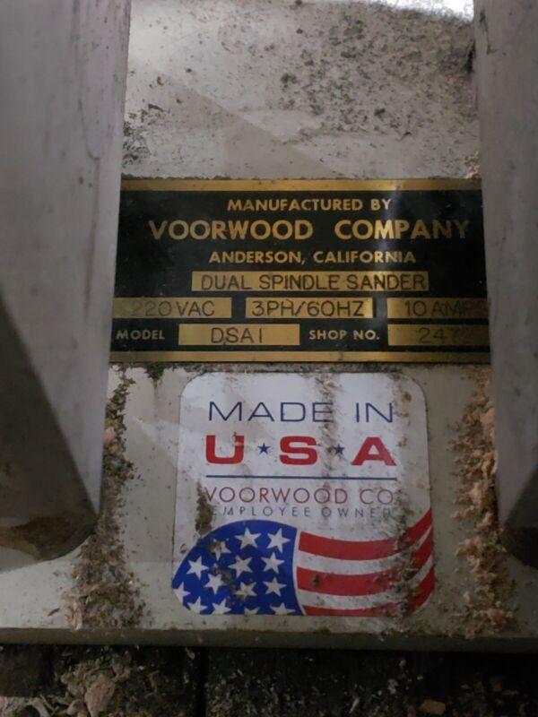 Voorwood dual spindle sander