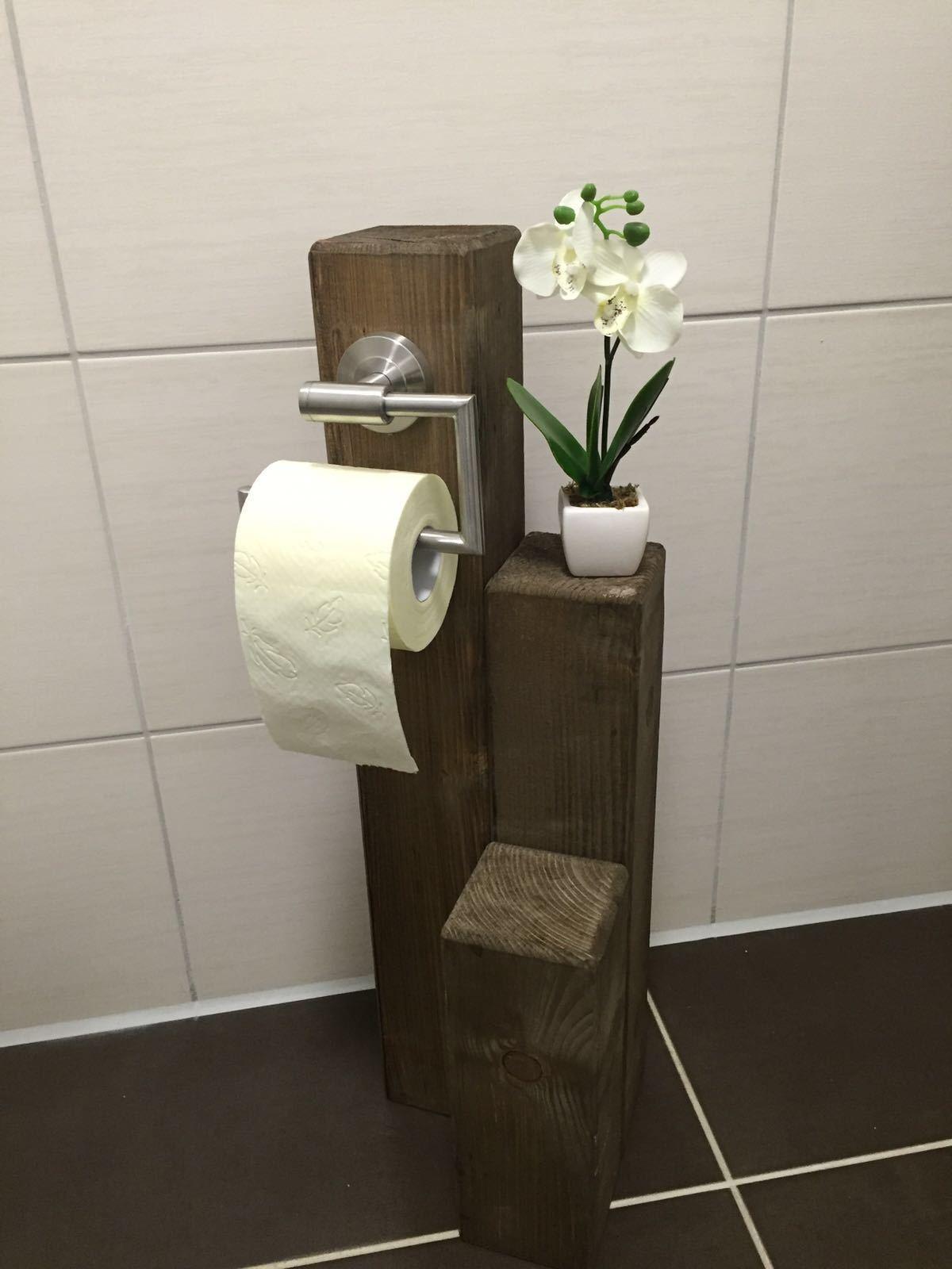 wc rollenhalter toilettenpapierhalter klorollenhalter rustikal wc rolle vintage eur 45 00. Black Bedroom Furniture Sets. Home Design Ideas