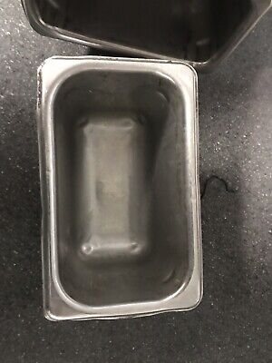 Set Of 12used Stainless Steel 7 X 4.25 X 4 Insert Steam Table Food Pans