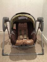 Snug glider swing for baby car seat