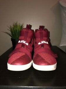 Maroon LeBron Solider 11 Size 7