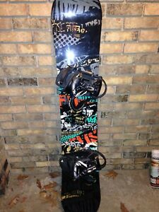 K2 snowboard with bindings and boots