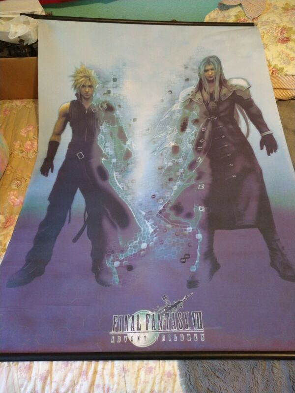 Final Fantasy Advent Children Wall Scroll Cloud And Sephiroth