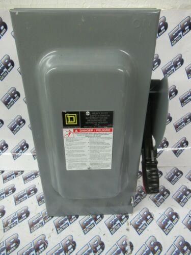 SQUARE D HU362, Series F, 60 Amp, 600 Volt, 3PH, Disconnect