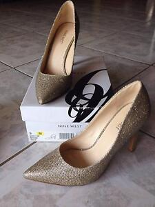 Size 9 Nine West Gold Heels - worn once for Engagement Party Hamilton Brisbane North East Preview