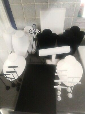 Jewelry Display Lot - Over 20 Pieces To Display Jewelry - Black And White